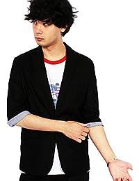 (エイト) 8(eight)7分袖 テーラードジャケット 綿 麻 ブレザー