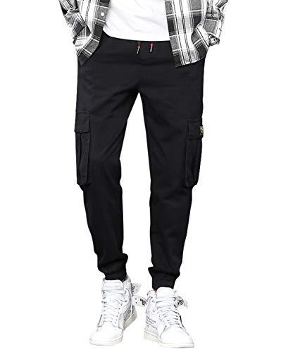 d1b31cb3bec47 カーゴパンツ メンズ ロングパンツ 多機能 おしゃれ ゆったり ズボン ワークパンツ ストレッチ 6ポケット 綿