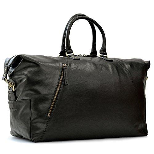 レザー ボストンバッグ メンズ B4 旅行 出張 牛革 ビジネスバッグ ヌメ革 CH-P142(ブラック)