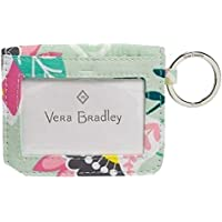 Vera Bradley Iconic Campus Double ID in Mint Flowers Signature Cotton