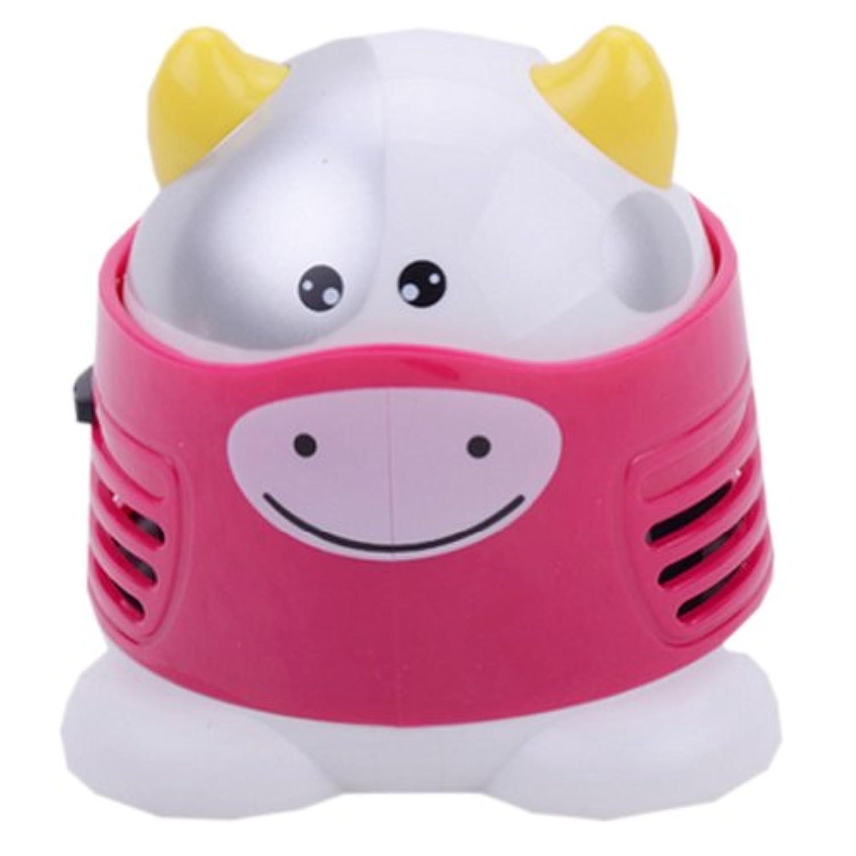 クリエイティブファッションMini Cowキーボードデスクトップハンドヘルド掃除機バッテリーなしピンク