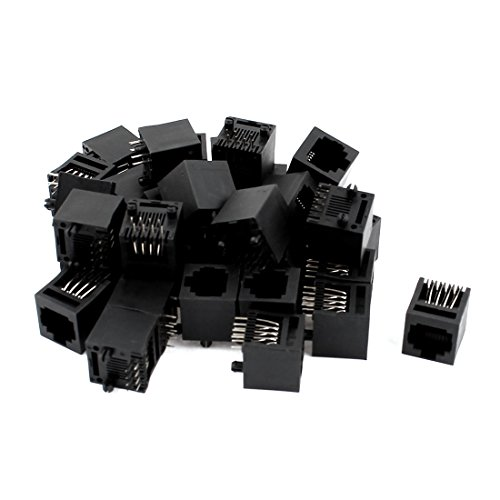 [해외]uxcell 모듈 커넥터 RJ11 PCB 잭 제 블랙 RJ45 8P8C 타입 39 개들이/uxcell Modular connector RJ11 PCB Jack made black RJ45 8P8C type 39 pieces