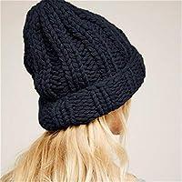 XAYTYKHBHDAU Fashion Autumn and Winter Warm Ladies Braided Crochet Wool Knit Innocent Urinal Beret Warm Winter hat (Color : Black, Size : One Size)