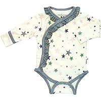 Babysoy Long Sleeve Star Pattern Ruffle Bodysuit (Thunder 6-12 Months)