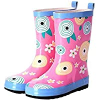 MEIGUIshop Rain Boots - in The Tube Water Shoes can be Added Velvet Warm Rubber Boots rain Boots