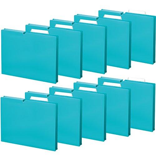 コクヨ ファイル 個別フォルダー NEOS A4 30mm 3辺とじ 10冊 ターコイズブルー A4P-NEF30BX10