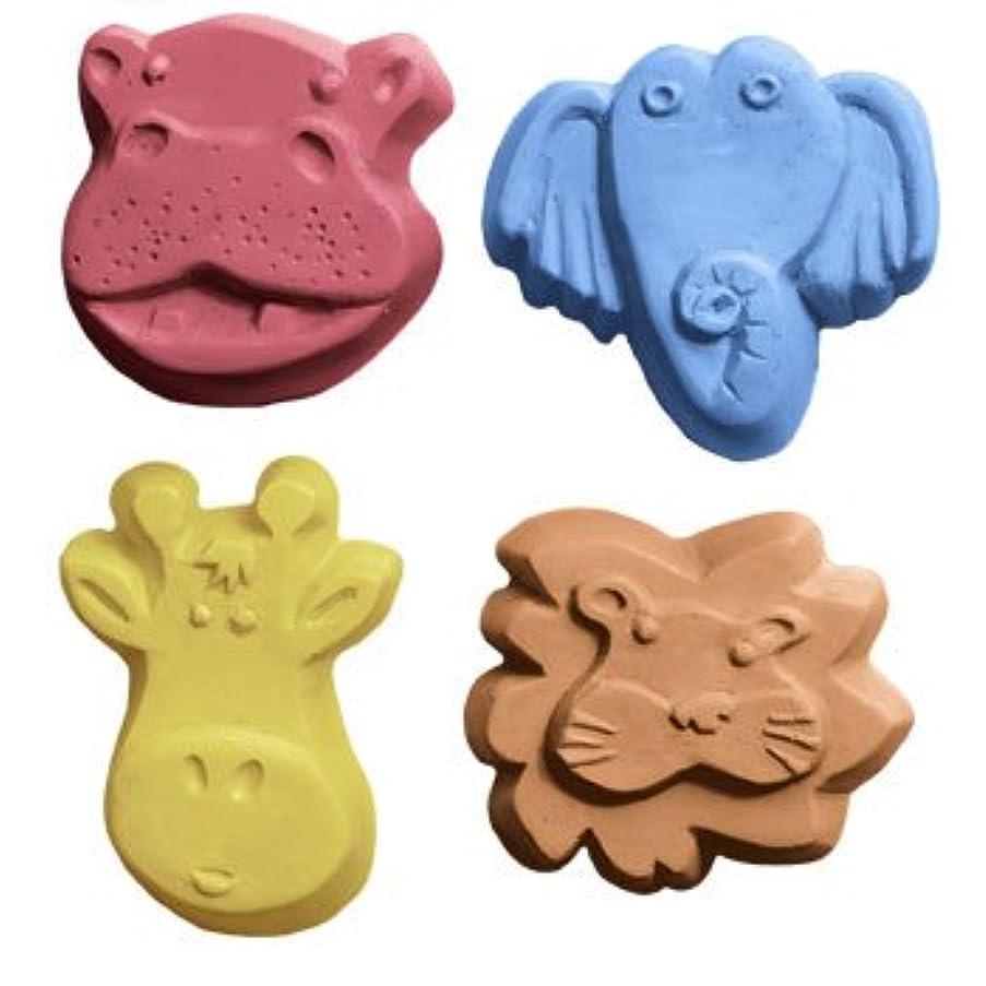 威するバッジ合体ミルキーウェイ キッズクリッター[カバ、ライオン、キリン、ゾウ] 【ソープモールド/石鹸型/シートモールド】