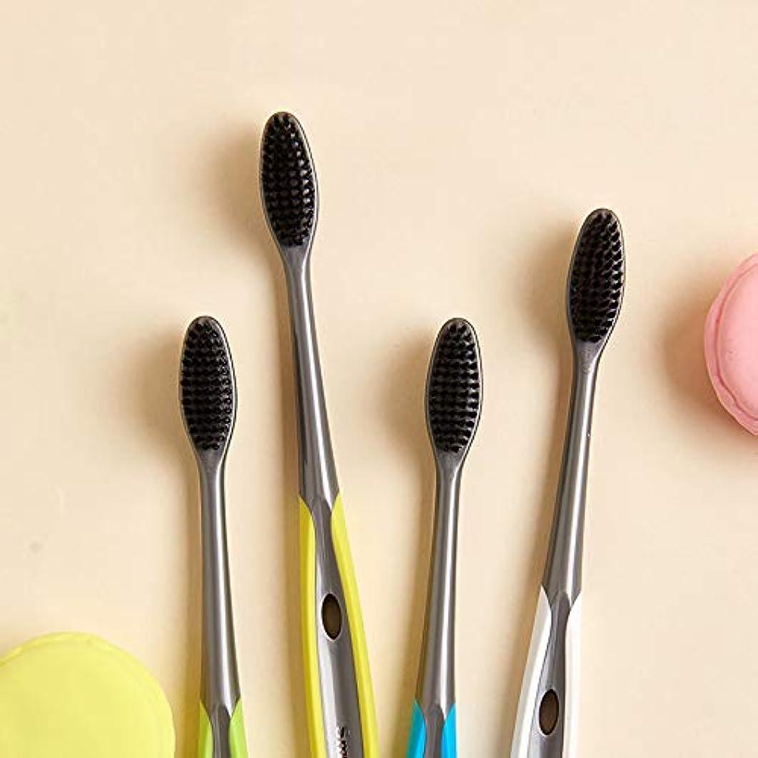 豆歴史的川歯ブラシ 竹炭歯ブラシ、口腔衛生歯ブラシ、バルク歯ブラシ - 10パック KHL (サイズ : 10 packs)
