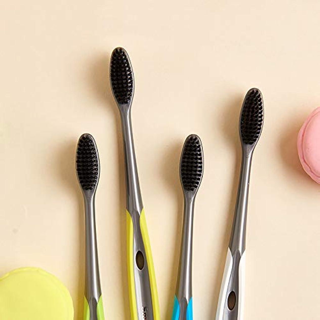 しないでください並外れて囲い歯ブラシ 竹炭歯ブラシ、口腔衛生歯ブラシ、バルク歯ブラシ - 10パック KHL (サイズ : 10 packs)