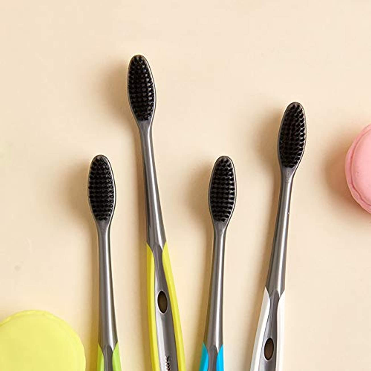 素晴らしきあいにく超音速歯ブラシ 竹炭歯ブラシ、口腔衛生歯ブラシ、バルク歯ブラシ - 10パック KHL (サイズ : 10 packs)