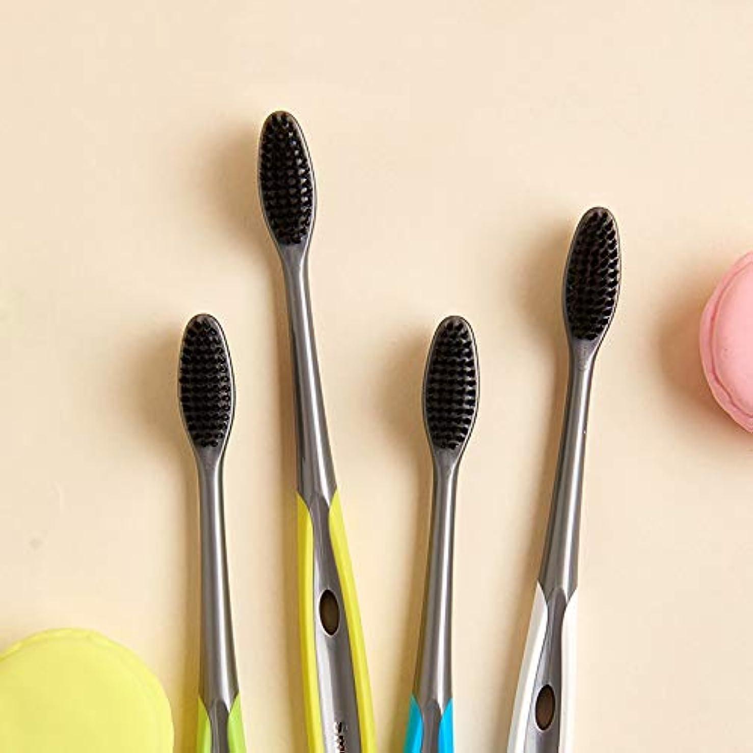 消費者鮫廃棄する歯ブラシ 竹炭歯ブラシ、口腔衛生歯ブラシ、バルク歯ブラシ - 10パック KHL (サイズ : 10 packs)