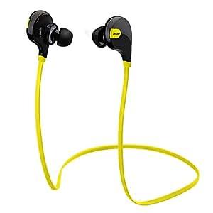 Mpow Swift Bluetooth 4.0 イヤフォン ワイヤレスステレオヘッドセット aptX付 スポーツに対応(イエロー)