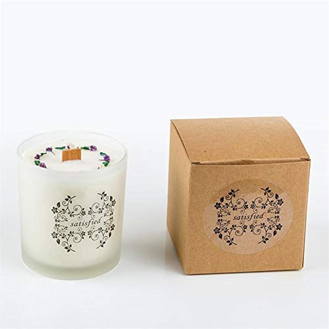 祖先背骨広まったACAO シンプルなソイワックスホワイトフロストガラスボトルビッグドライフラワーサークルアロマセラピー文学結婚式の手配 (色 : Night scent)