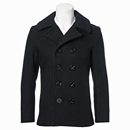 24 Oz. Melton Wool Naval Pea Coat 753 (7118): Navy