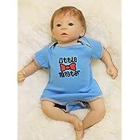 PursueベビーブルーEyes Lifelike Poseable Baby Boy Doll Little Mister、18インチソフトビニールリアルなWeighted新生児赤ちゃん人形