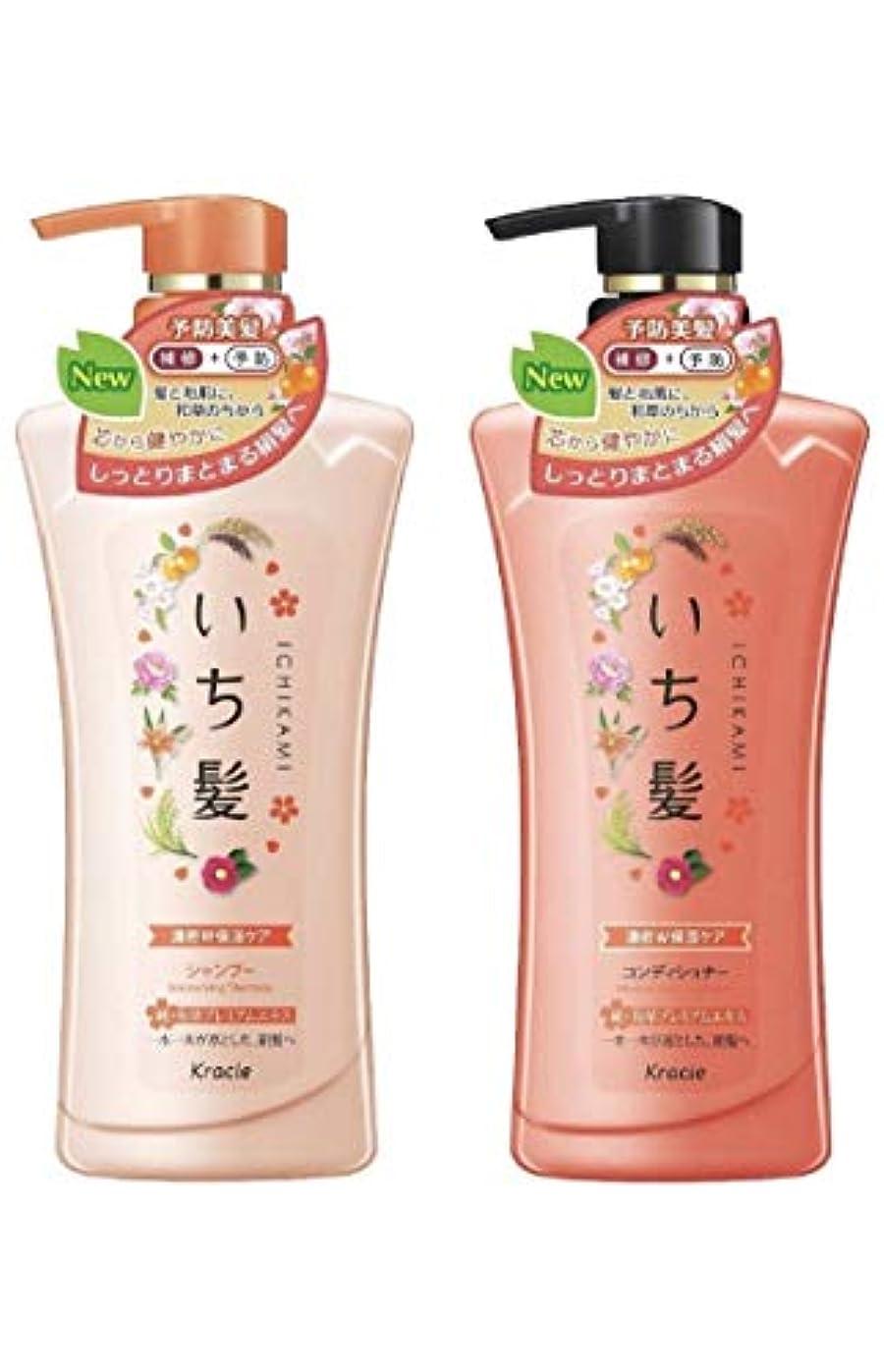 遠えアライメント植生いち髪シャンプー&コンディショナーペアセット(濃密W保湿)