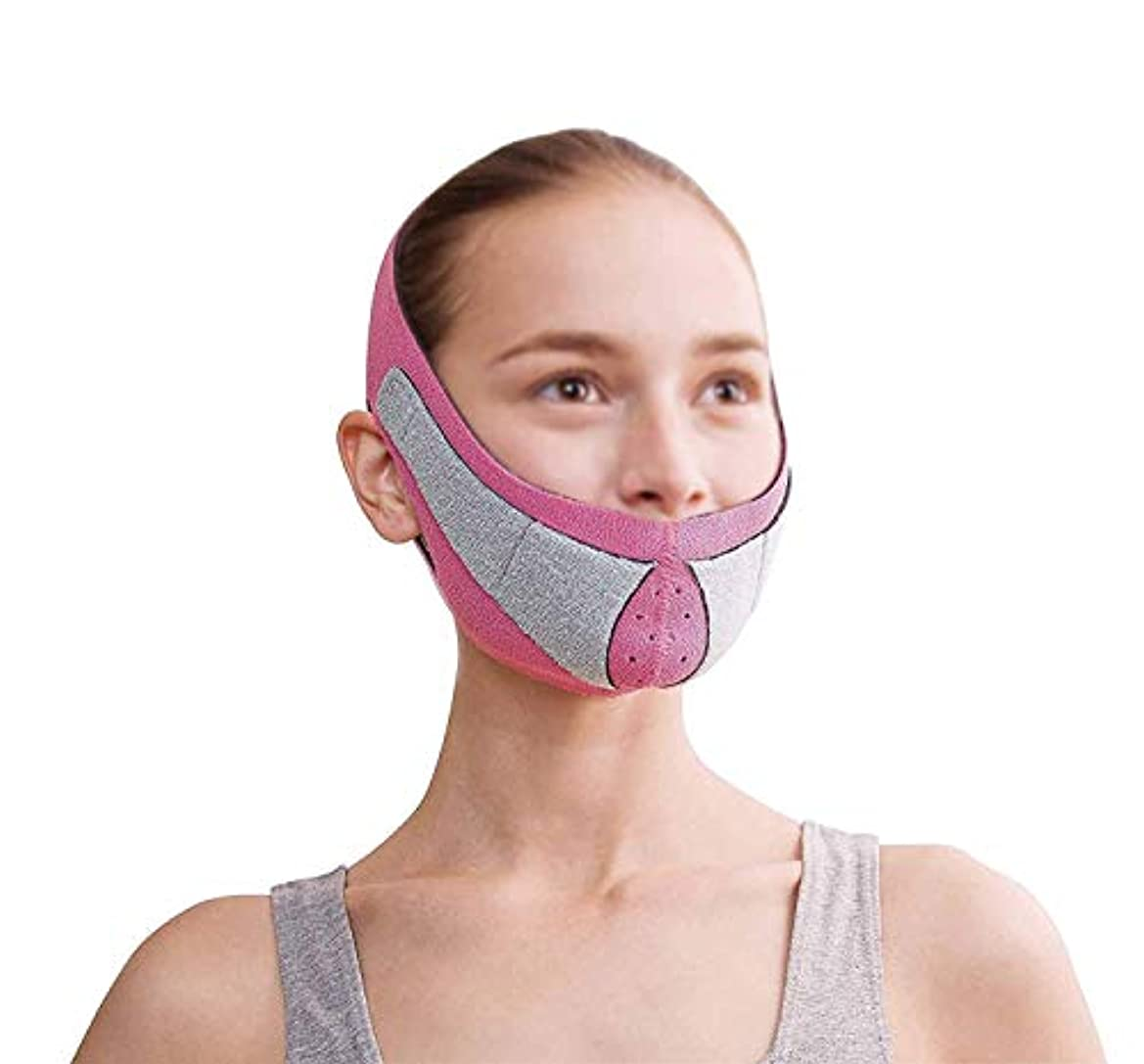 海軍クマノミ願うフェイスリフトマスク、顔のMaskplus薄いフェイスマスクタイトなたるみの薄いフェイスマスク顔の薄いフェイスマスクアーティファクトネックストラップ付き