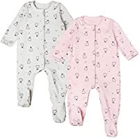 Newborn Baby Girl Romper Footed Long Sleeve Lively Rabbit Jumpsuit