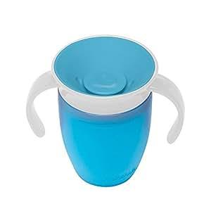 マンチキン(munchkin) ベビー用 マグ こぼれない ハンドル/ふた 付き コップ 6カ月から 上手に飲める 練習 ミラクルカップ 196ml ブルー FDMU10800
