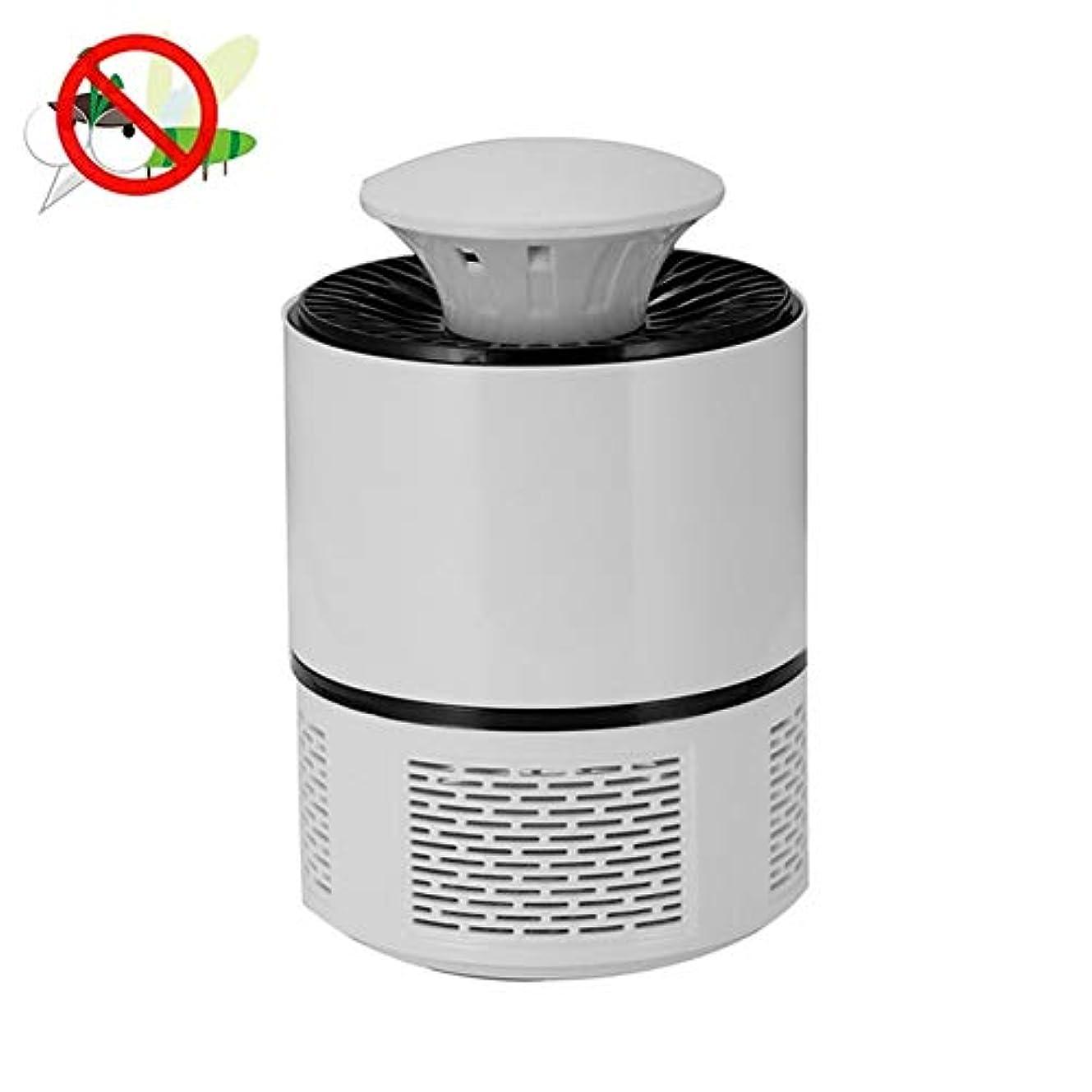 ダブル注ぎますしおれた蚊取り器屋内電気蚊キラーUsbライト電子防蚊トラップは夜の光昆虫のキラーを導きました,White