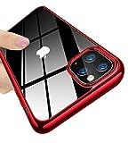 iPhone 11 ケース クリア 透明ケース 耐衝撃 軽量 TPU 薄型 メッキ加工 ケース 指紋防止 耐摩擦 クリアケース,TPU ケース,アイフォン アイフォン 耐衝撃吸収 落下防止 耐震,カメラ保護,qi充電対応 黄ばみ防止