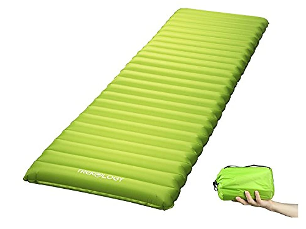 反論在庫誰の[Trekology] [超軽量スリーピングパッド Camping Mattress w/Air Pump Dry Sack Bag - Compact Lightweight Camp Mat, Inflatable Backpacking Gear ]