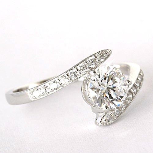 One&Only Jewellery スワロフスキー ジェム 1ct相当 デザインリング 指輪 K18GP レーザー刻印入 正規ストーン採用 (15号)
