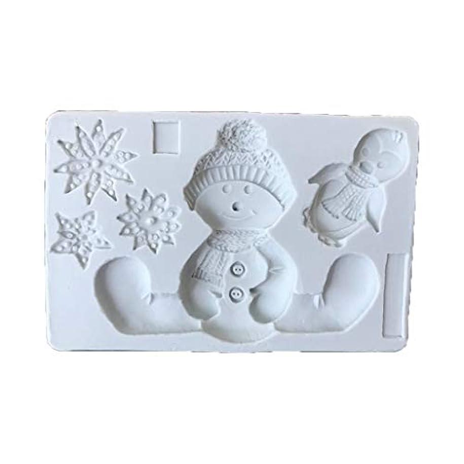 ジョセフバンクス辛いコーヒーjiuloneclerst クリスマス雪だるまシリコーンフォンダンモールドケーキチョコレートデコレーションDIYベーキング