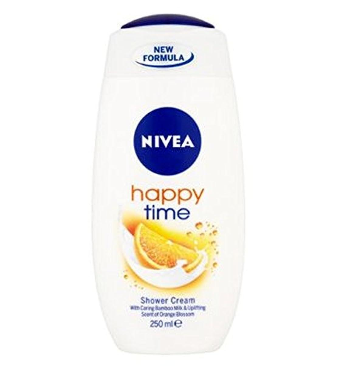 影のある損失ペーストNIVEA Happy Time Shower Cream 250ml - ニベア幸せな時間シャワークリーム250ミリリットル (Nivea) [並行輸入品]