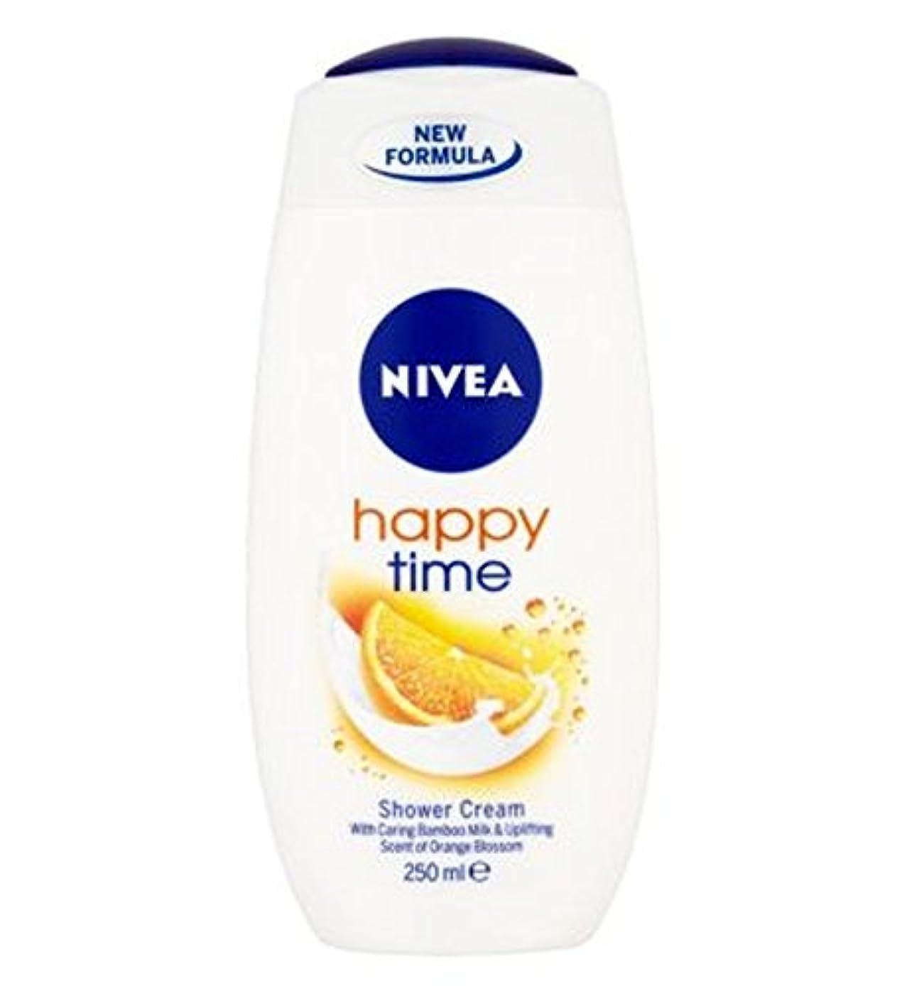 転倒好色なはねかけるNIVEA Happy Time Shower Cream 250ml - ニベア幸せな時間シャワークリーム250ミリリットル (Nivea) [並行輸入品]