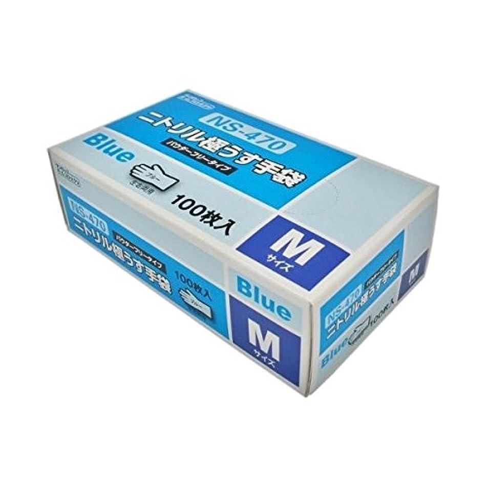 近代化ヒップロードされた(株)ダンロップホームプロダクツ ニトリル極薄手袋 100枚 M ブルー