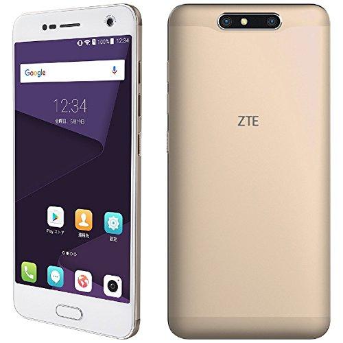 【技適通過】ZTE Blade V8 SIMフリースマートフォン シャンパンゴールド