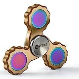 Waitiee Hand spinner ハンドスピナー 指スピナー スピン ウィジェット フォーカス おもちゃ ギフト ADHD 子供 大人に適用 Hand Fidget Spinner Focus Toy ステンレス鋼'