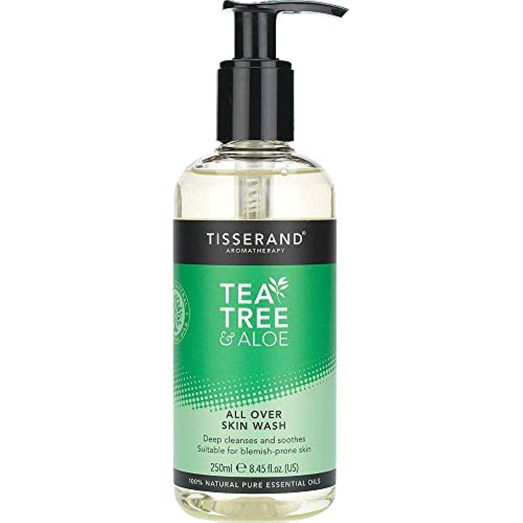 偉業保持調子[Tisserand] すべての肌ウォッシュ250ミリリットルを超えるティスランドティーツリー&アロエ - Tisserand Tea Tree & Aloe All Over Skin Wash 250ml [並行輸入品]