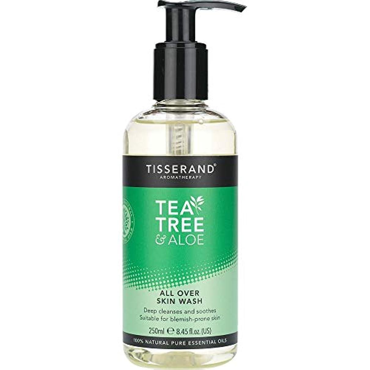 背景治療感じる[Tisserand] すべての肌ウォッシュ250ミリリットルを超えるティスランドティーツリー&アロエ - Tisserand Tea Tree & Aloe All Over Skin Wash 250ml [並行輸入品]