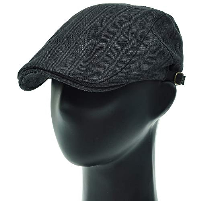 [PLIC N PLOC]EMH10.コットンヘリンボーンメンズベレー帽 ハンチング フラットキャップ帽子 鳥打ち帽 春 秋