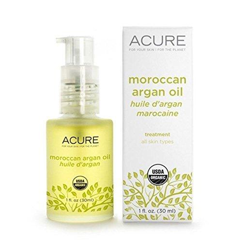 Acure Organics オーガニック モロッコ原産 アルガンオイル トリートメント 全ての肌タイプ用 1 oz 30ml [海外直配送]
