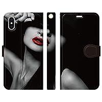 iPhoneXS iPhoneX 手帳型 ケース カバー モノトーン mod03 ブレインズ モノクロ 白黒 セクシー sexy ファッション おしゃれ 個性的
