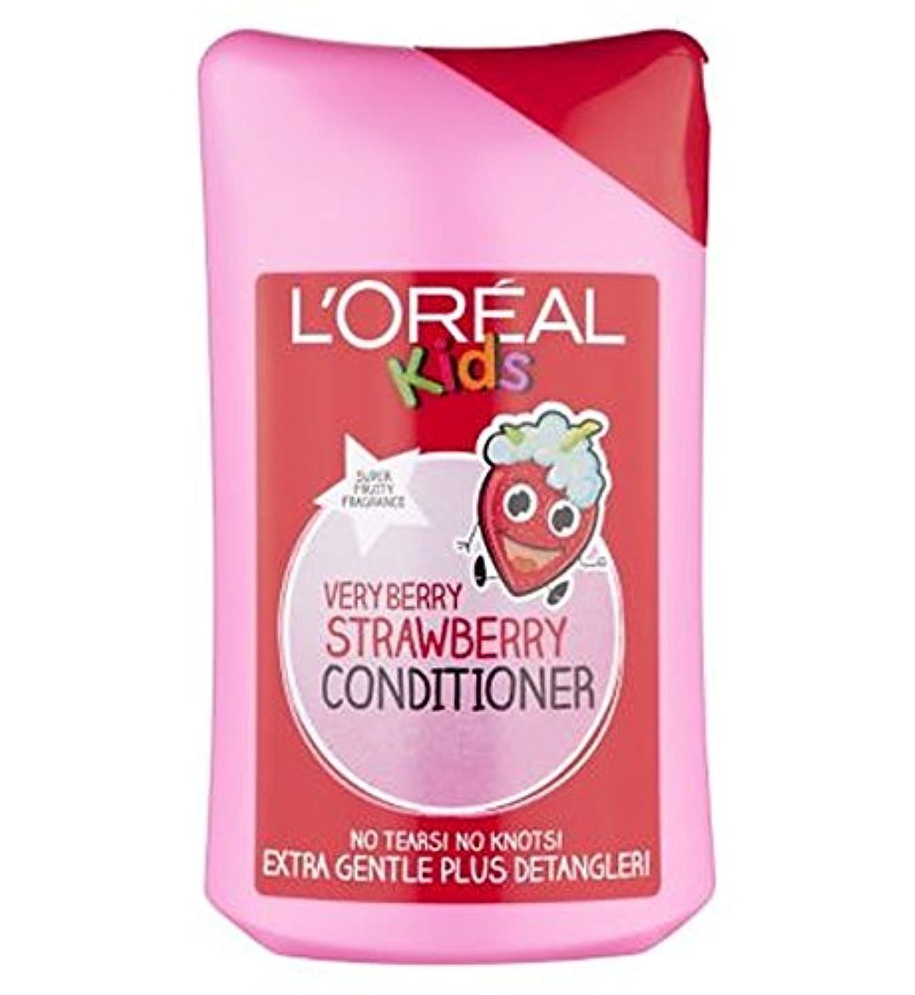 降下不運繊毛L'Oreall子供余分な穏やかな非常にベリーストロベリーコンディショナー250ミリリットル (L'Oreal) (x2) - L'Oreall Kids Extra Gentle Very Berry Strawberry...