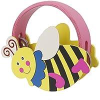 【ノーブランド 品】子供 木製 タンバリン ガラガラ- 蜂