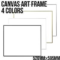 【専用額】 CHANEL/シャネル ブランド パロディ ポップ アート キャンバス ポスター canvas-frame (WHITE[ホワイト])