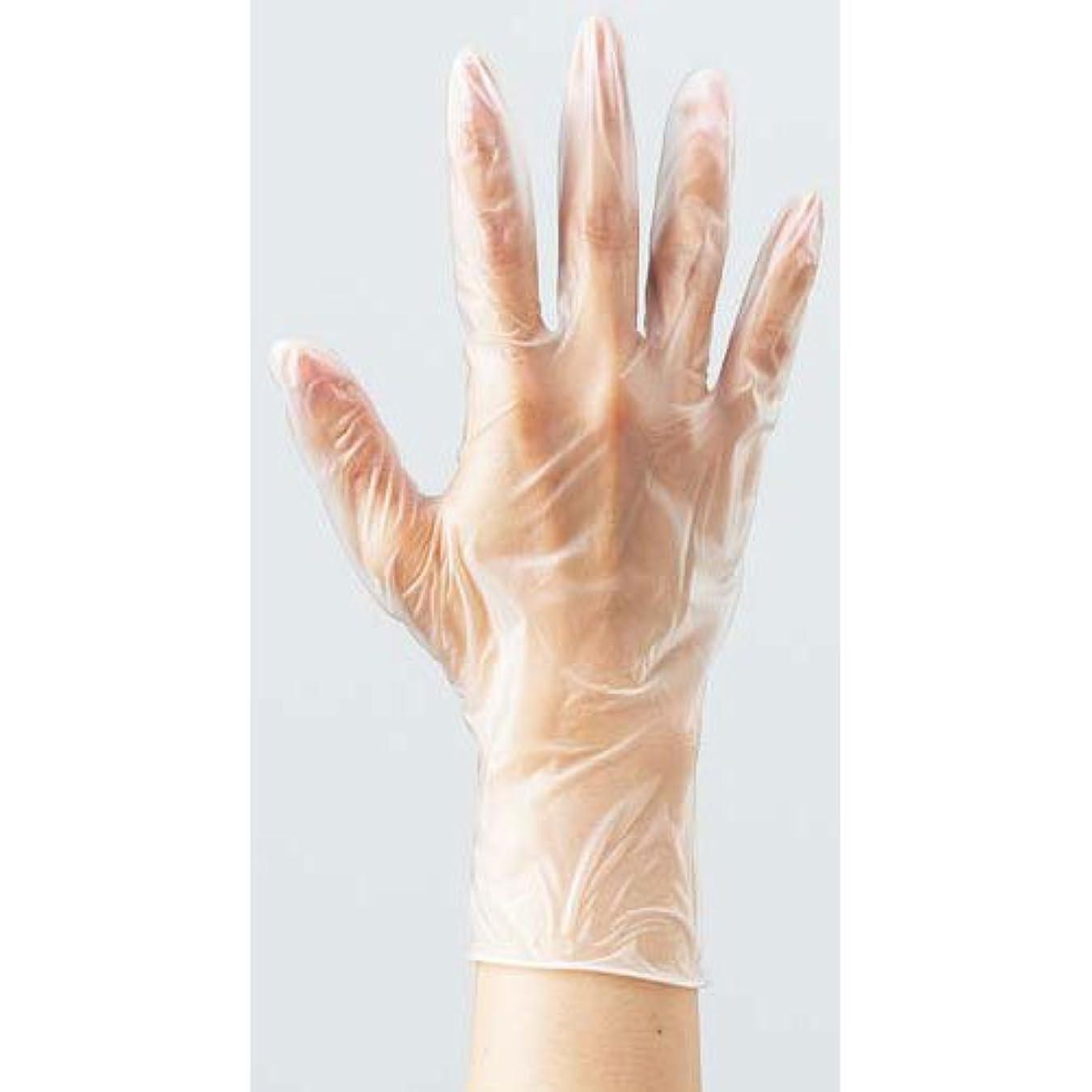 エージェント危険な表示カウネット プラスチック手袋 袋入 粉無L 100枚