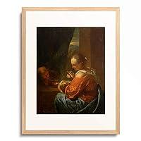 ゴッドフリード・シャールキン Godfried Schalcken 「Heilige Familie.」 額装アート作品