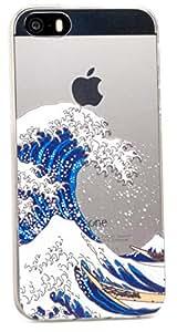 ZUKOU iPhone SE ケース 透明 クリア 和風 和モダン スマホケース 浮世絵 葛飾 北斎 ソフト TPU (iPhone5s / iPhone5 対応)