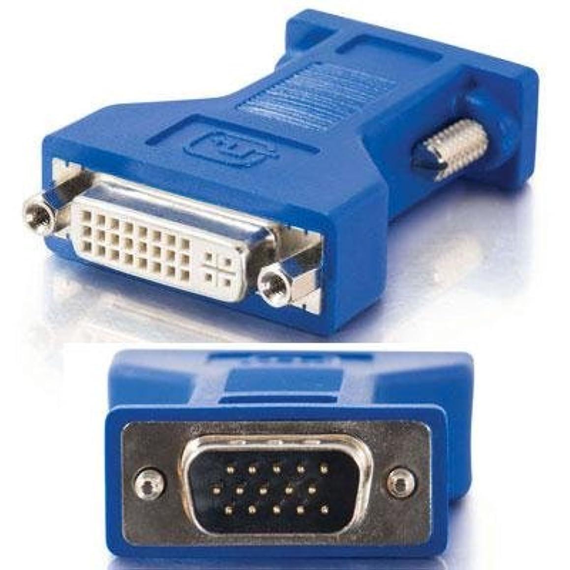 故意に描写補足C2G DVI Female to HD15 VGA Male Video Adapter - Display adapter - DVI-I (F) to HD-15 (M) - beige