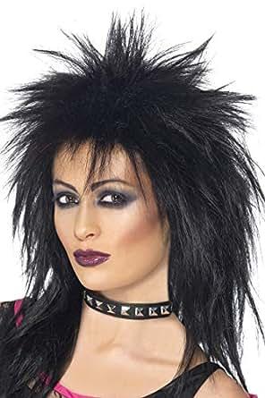 ウィッグ 黒 ロックシンガー風 カツラ ロング マレット 大人女性用 Rock Diva