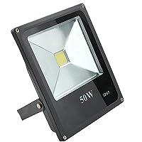 1 x 50W LED洪水ライト6000K IP65電圧AC110-265V庭用スポットライトプロジェクター