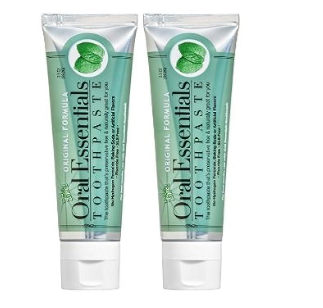 テキスト素晴らしさチーム海外直送品 Oral Essentials オーラルエッセンシャル 歯磨き粉 (オリジナル 106.3グラム 2個) Fresh Breath Toothpaste (Pack of 2) 3.5 Oz Dentist...