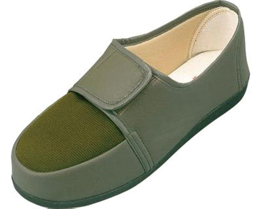 リハビリシューズ 両足 婦人用 24.0cm カーキ W603 (マリアンヌ製靴) (シューズ)(返品不可)