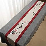 QY テーブルランナー コットンとリネン テーブルフラグ 素朴な 端 レトロ 古い シック 結婚式 デコレーション 屋外の パーティー デコレーション QY テーブルランナー (Color : T8, Size : 30*210CM)
